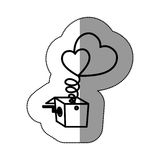Isolated heart and box design Stock Images