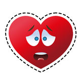 Isolated heart cartoon design. Heart cartoon icon. Love passion and romantic theme. Isolated design. Vector illustration Stock Photo