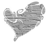Isolated heart and cement shapes, love image Royalty Free Stock Photography