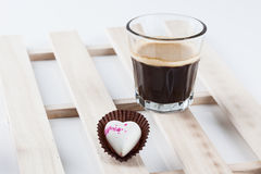 Isolated heart chocolate. Heart chocolate for valentine day Stock Photography