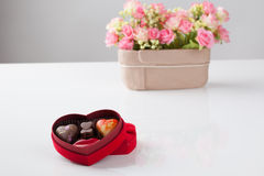 Isolated heart chocolate. Heart chocolate for valentine day Stock Photos