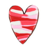 Isolated Heart Cookie. On white background Royalty Free Stock Photography
