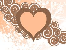 Isolated heart decorated with flowers and leaves Royalty Free Stock Photo