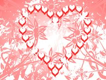 Isolated heart decorated with flowers and leaves Royalty Free Stock Image