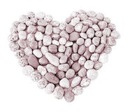Isolated heart made of round stones Royalty Free Stock Images