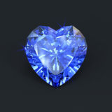 Isolated heart of the ocean sapphire Stock Photography