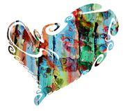 Isolated heart and playful paint shapes, love image Royalty Free Stock Image