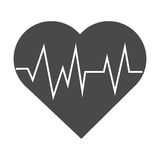 Isolated heart with pulse design Stock Photography