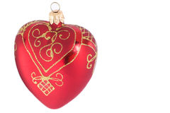 Isolated heart-shaped christmas decoration Stock Images
