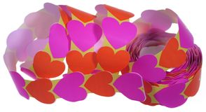Isolated heart stickers Stock Photo