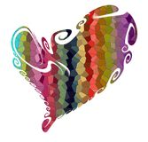 Heart. Love design in vivid hues on white background Stock Image