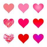 Isolated Hearts Stock Photography