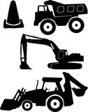 Isolated Heavy Machinery Illustration. An illustration of heavy various heavy machinery isolated on a white background Stock Image