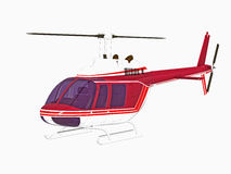 Isolated helicopter Stock Image