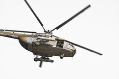 Isolated helicopter Stock Images