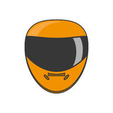 Isolated helmet of formula racing concept Stock Image