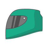 Isolated helmet of formula racing concept Royalty Free Stock Image
