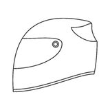 Isolated helmet of formula racing concept Royalty Free Stock Photography