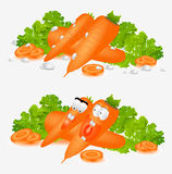 Isolated hero carrot character Royalty Free Stock Photo