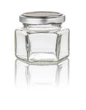Isolated hexagonal jam jar Stock Images