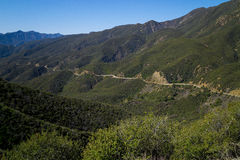 Isolated Highway Carved Through Hillside. Stock Photography
