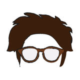 Isolated hipster hear and glasses design Stock Photos