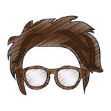 Isolated hipster hear and glasses design. Hear and glasses icon. Hipster style vintage retro fashion and culture theme. Isolated design. Vector illustration Royalty Free Stock Image