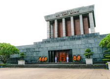 Isolated Ho chi minh Mausoleum in Hanoi, Vietnam Stock Image