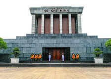 Isolated Ho chi minh Mausoleum in Hanoi, Vietnam Stock Images