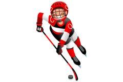 Isolated Hockey Vector Boy Player Stock Photo
