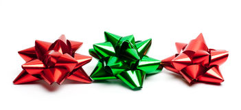 Isolated Holiday Bows Royalty Free Stock Photo
