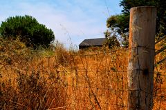 Isolated home out in the country royalty free stock images