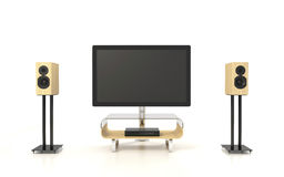 Isolated Home Theater Stock Photo