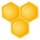 Isolated honeycomb Royalty Free Stock Photography