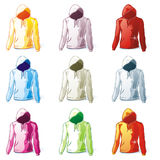 Isolated hoodies set Royalty Free Stock Photo