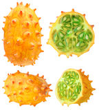 Isolated horned melon Royalty Free Stock Photos