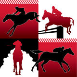 Isolated horse racing  Stock Photo