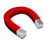 Isolated horseshoe magnet Royalty Free Stock Images