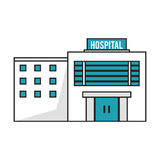 Isolated hospital building design Royalty Free Stock Images