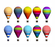Isolated Hot Air Balloons Stock Image
