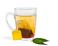 Isolated hot tea Stock Photography