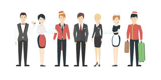 Isolated hotel staff. stock illustration