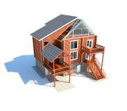Isolated house. House isolated on white background royalty free illustration