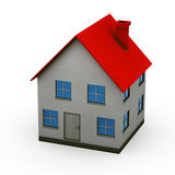 Isolated house. House - 3d render isolated illustration on white Royalty Free Stock Photos