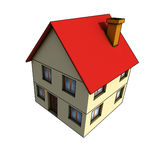 Isolated house. House - 3d render isolated illustration on white Royalty Free Stock Image
