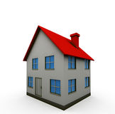 Isolated house. House - 3d render isolated illustration on white Royalty Free Stock Photography