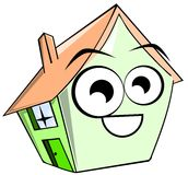 Isolated house cartoon Royalty Free Stock Photo