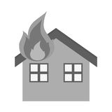 Isolated House on fire design. House on fire icon. Insurance health care security and protection theme. Isolated design. Vector illustration Royalty Free Stock Image