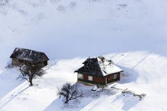 Isolated house. S in the Romanian Carpathians Stock Photography