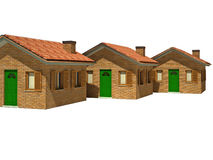 Isolated houses 3d. Fine image 3d of isolated house on white background Royalty Free Stock Photography